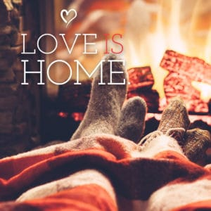 Valentines Day Social Banner: Love is HOME