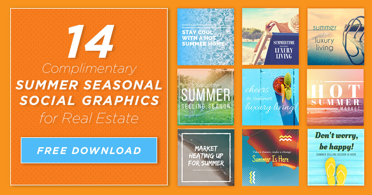 Summer Seasonal Social Graphics