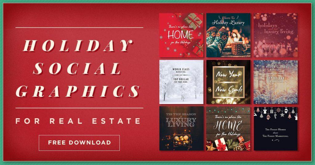 25 Free Holiday Real Estate Social Graphics