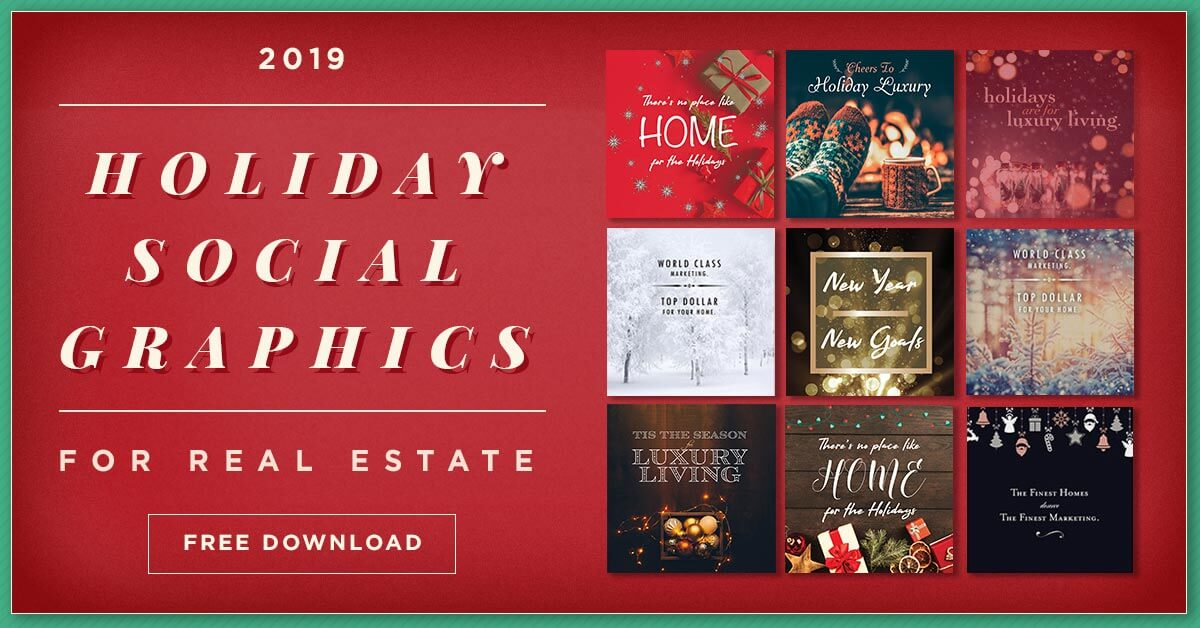 25 Free Holiday Real Estate Social Graphics