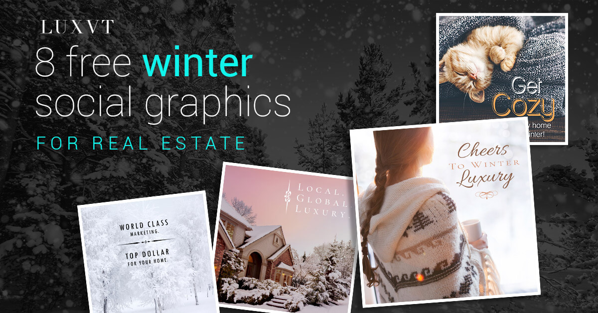 6 Winter Real Estate Social Graphics