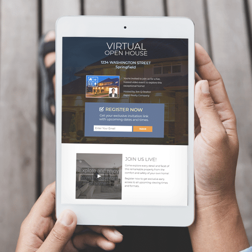 Virtual Open House Landing Page