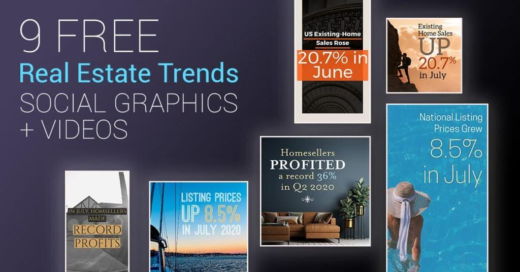 Real Estate Trends Social Graphics – Plus Bonus Videos!